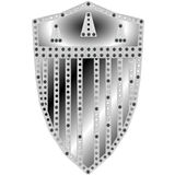 Metal shield design Royalty Free Stock Image