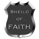 Metal Shield of Faith Sign Royalty Free Stock Photo