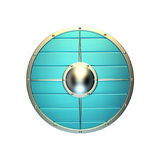 Metal shield. Illustration of blue shield on a white background vector illustration