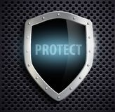 Metal shield Stock Photography