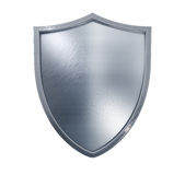 Metal Shield. Isolated on white Stock Photo