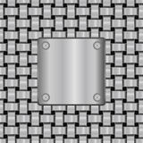 Metal shield on seamless texture Royalty Free Stock Photo