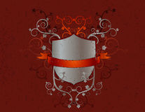 Metal shield,squiggle, vector Royalty Free Stock Images