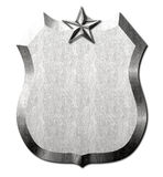 Metal Shield Star Sign Royalty Free Stock Image