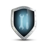 Metal shield Stock Images