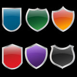 Metal shields set Royalty Free Stock Image