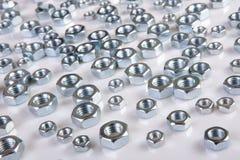 Metal shine nuts Royalty Free Stock Image