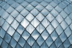 Metal shingle on a dome roof of a church.  Royalty Free Stock Photo