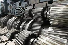 Metal shiny gear Stock Photography