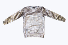 Metal shiny hoodie on white Royalty Free Stock Photography
