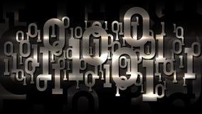 Metal shiny matrix binary code, dark cellular background with digital binary code, artificial intelligence, cloud service