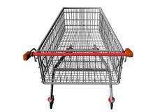 Metal  Shopping cart. Royalty Free Stock Image