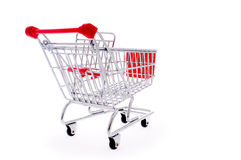 Metal shopping cart Royalty Free Stock Images