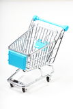 Metal shopping cart Royalty Free Stock Photo