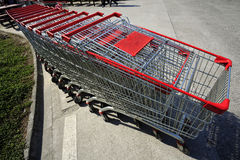 Metal shopping cart Royalty Free Stock Photography