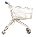 Metal shopping cart Stock Photo