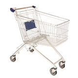 Metal shopping cart Stock Photography