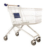 Metal shopping cart Royalty Free Stock Image