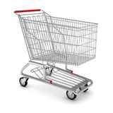 Metal shopping cart for purchase Royalty Free Stock Photography