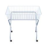 Metal shopping cart on wheels Stock Image