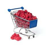 Metal shopping trolley Stock Photos