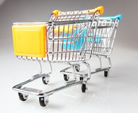 Metal shopping trolley Royalty Free Stock Photos