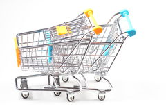Metal shopping trolley Royalty Free Stock Photo