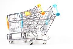 Metal shopping trolley Royalty Free Stock Photo