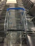Metal shopping trolley royalty free stock image