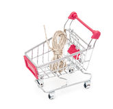 Metal shopping trolley Stock Photography