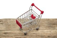 Metal shopping trolley Stock Photo