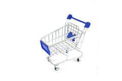Metal shopping trolley Royalty Free Stock Photography