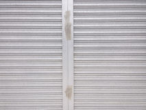 Metal shutter door pattern Stock Photos