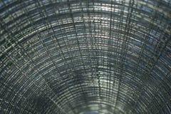 Metal siatka przekręcał w rolkę, w górę, obrazy royalty free