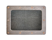 Metal siatki tła Bezszwowy Deseniowy talerz z metal ramą Obraz Stock