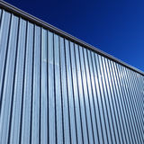 Metal Side of Building Royalty Free Stock Photo