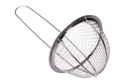 Metal Sieve Isolated Royalty Free Stock Photos