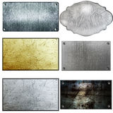 Metal sign. Old metal sign collections isolated on white Stock Photography