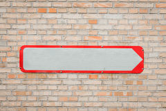Metal sign with an arrow Stock Photo