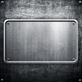Metal sign background Stock Photography