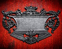 Metal sign background Royalty Free Stock Photo