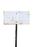Metal sign board Stock Image