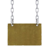 Metal Sign With Chains Royalty Free Stock Photography