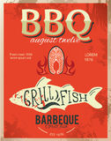 metal sign - Dad's BBQ Grunge effects can be easily removed. Royalty Free Stock Photography