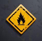 Metal sign fire Royalty Free Stock Photos