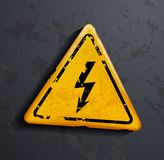 Metal sign high voltage Royalty Free Stock Photography