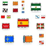 Metal sign of Spain. Royalty Free Stock Photography
