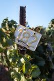 Metal sign in a vineyard Stock Photos