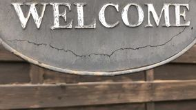 Sign saying `Welcome`. stock footage