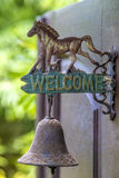 Metal sign welcome. Stock Photos